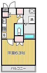 サニーサイド旗の台[3階]の間取り
