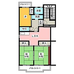 サンコーポ小林[3階]の間取り