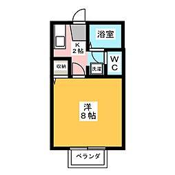 コーポ向日葵[1階]の間取り