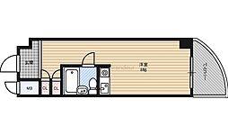 朝日プラザ都島2 7階ワンルームの間取り