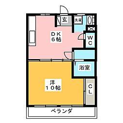 篠田マンション[2階]の間取り