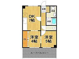 フォレスト武庫元町[2階]の間取り