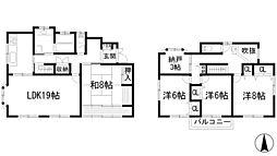 [一戸建] 兵庫県川西市けやき坂2丁目 の賃貸【/】の間取り