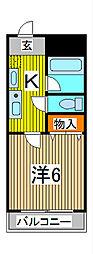 シャテロイワサキ[3階]の間取り