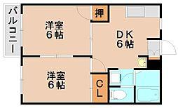 メゾンドK[1階]の間取り