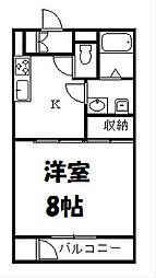 グリーンシティー1113[2階]の間取り