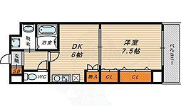BELLフォレスト鶴見 2階1DKの間取り