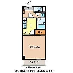 コンフォート三輪[3階]の間取り