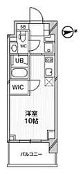都営浅草線 高輪台駅 徒歩5分の賃貸マンション 5階ワンルームの間取り