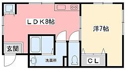 メゾン甲子園[301号室]の間取り