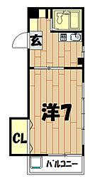 メゾンマキガハラ[206号室]の間取り