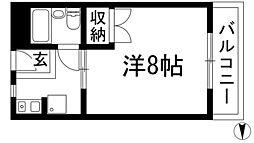 天神リバーサイドマンション[2階]の間取り