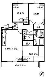 アルファタウン西田原I[103号室]の間取り