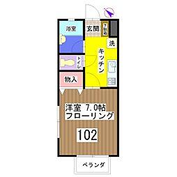 グリーンハウス[102号室]の間取り