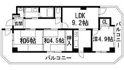 兵庫県宝塚市寿町の賃貸マンションの間取り