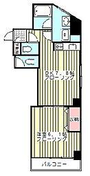 JR京浜東北・根岸線 西川口駅 徒歩5分の賃貸マンション 3階1LKの間取り