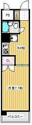 第23クリスタルマンション[3階]の間取り