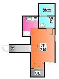 東京都北区中十条3の賃貸アパートの間取り
