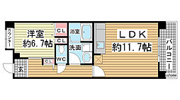 HAT神戸・灘の浜12号棟[5階]の間取り