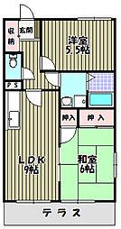 パルハイツA[1階]の間取り