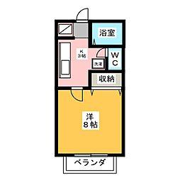 メゾンシャンパーニュ[1階]の間取り
