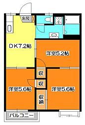 貫井コーポ[2階]の間取り