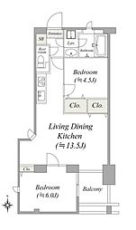 間取り(専有面積51.82平米、1SLDKタイプ。3階・南向きの角部屋のため、日当たり・通風良好です。LDKや各居室に収…)