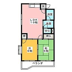 メゾン大平[1階]の間取り