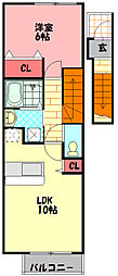 Osaka Metro谷町線 大日駅 徒歩20分の賃貸アパート 2階1LDKの間取り