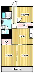 第二 第三 千代田マンション[2212号室]の間取り