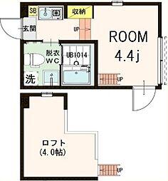 (仮称)北区浮間2丁目コーポ[2階]の間取り