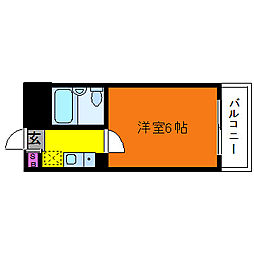 レオ新高[4階]の間取り