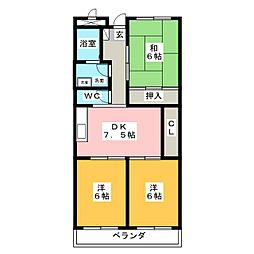 リンピアYAMADA[2階]の間取り