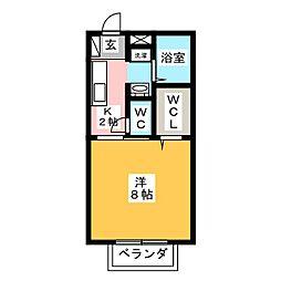 祖谷形の杜三番館[2階]の間取り