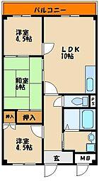 ハイツ福田[2階]の間取り