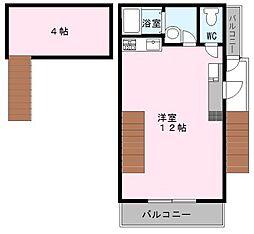 大阪府高石市綾園1丁目の賃貸アパートの間取り
