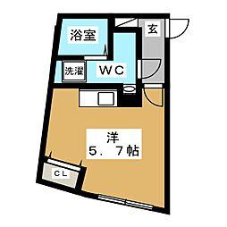 都営浅草線 戸越駅 徒歩5分の賃貸マンション 3階ワンルームの間取り