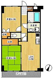 YMDIIIマンション(YMD3マンション)[3階]の間取り