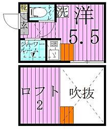 L-Claid(エル-クライド) 3階ワンルームの間取り