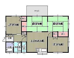 [一戸建] 福岡県福岡市東区唐原4丁目 の賃貸【/】の間取り