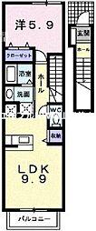 ラ・フォンテA[2階]の間取り