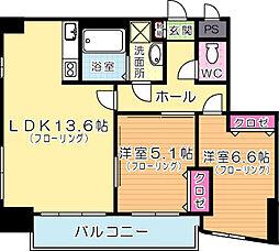 MDIロイヤルレジデンス大手町[8階]の間取り