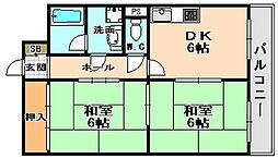 兵庫県伊丹市南野北5丁目の賃貸マンションの間取り