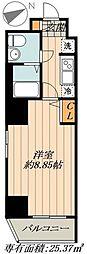 FUSION日本橋箱崎 7階1Kの間取り