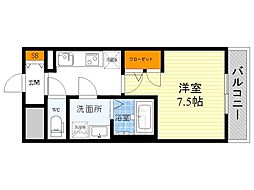 S-RESIDENCE江坂Alegria[8階]の間取り