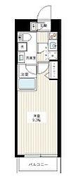 都営三田線 本蓮沼駅 徒歩9分の賃貸マンション 2階1Kの間取り