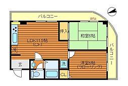 東京都三鷹市牟礼3丁目の賃貸マンションの間取り
