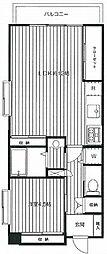南台マンション 閑静な住宅街 フルリノベーション1LDK[2階]の間取り