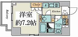 東京メトロ丸ノ内線 御茶ノ水駅 徒歩9分の賃貸マンション 6階1Kの間取り