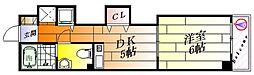 A・Mフラッツ正雀[1階]の間取り
